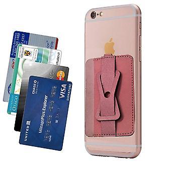 Kaarthouder met mobiele standaard/houder - roze