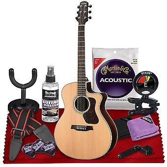 Walden g800ce natura all-solid sitka  rosewood grand auditorium acoustic-electric guitar  with gig bag, strap, strings, tuner, and more ps21863