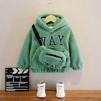 运动衫与袋冬季羊毛厚帽中性