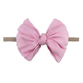 New Baby Elastic Bow Headband Fashion Knot Nylon Toddler Kids Headwear