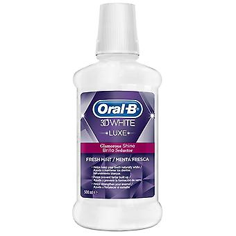 Oral B Mouthwash 3D White Luxe Seductive Gloss 500 ml