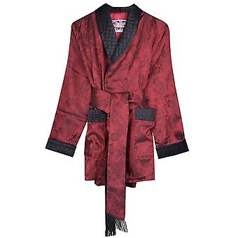 Bown of London Clarke Short Smoking Jacket - Claret Burgundy