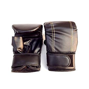 Adult Sanda Gloves, Pu, Skid-proof, Exposure Finger Boxing Sandbag Glove,