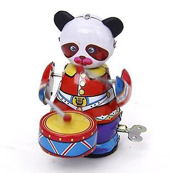 Panda Drummer Tin Toy