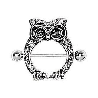 316l Surgical Steel Owl Nipple Shield