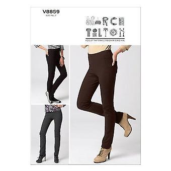 Vogue Sewing Patterns 8859 se pierde pantalones ajustados tamaño 8-16