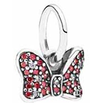 PANDORA Disney - Minnies Sparkling Bow Dangle Charm - Red & Clear CZ - 791556CZR