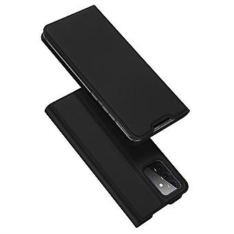 Samsung a72 5g kotelo iskunkestävä anti fall flip läppä kansi musta