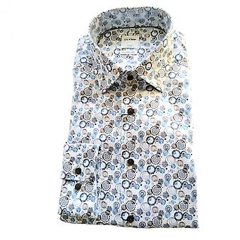 OLYMP Olymp Blue And Brown Shirt 1182 74