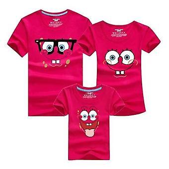 Familie Moeder en Dochter Vader Zomer T-shirt