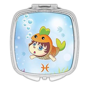 Miroir compact cadeau : Signes de poissons