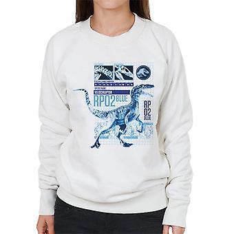 Jurassic Park Raptor Rp02 Blaue Frauen's Sweatshirt