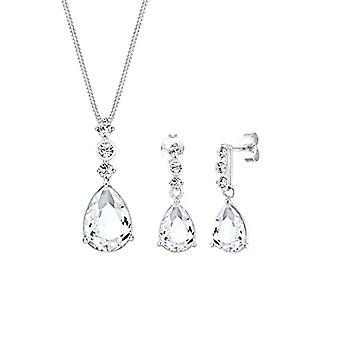 Elli PREMIUM korut setti Mujer Dejan Caer Preciosas cristales de Swarovski en Plata Esterlina 925 kanssa