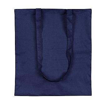 eBuyGB - Set of 10 cotton canvas shopping bags, 42 cm, Blue (Blue) - 1205804-10a
