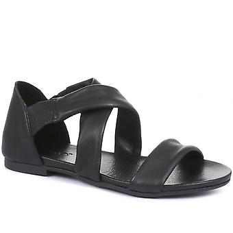 Inuovo Womens Aubree Flat Leather Sandals