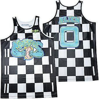 Men's Monstars 0# Checkered Basketball Jersey S-xxl,90s Hip Hop Clothing For Party, Stitched Letters And Numbers