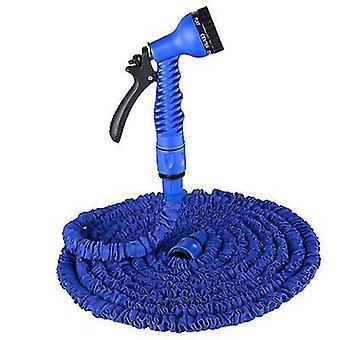 25Ft blue garden 3 times retractable hose, with high pressure car wash water gun az8489
