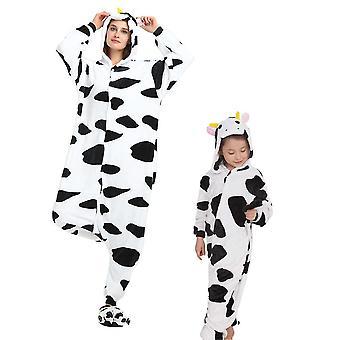 Regenboghorn Traje de vaca Pijama Onesie Kigurumi Mono Animal Sudadera con capucha