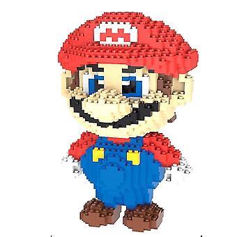 New Super Mario Building Blocks Puzzle Micro 3d Figures Educational Brick Toys ES7477
