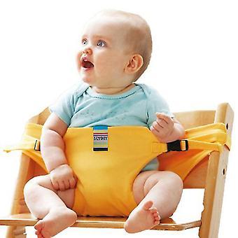 Żółty fotel bezpieczeństwa fotel dla dziecka jadalnia przenośnik dodatkowy pas x5158