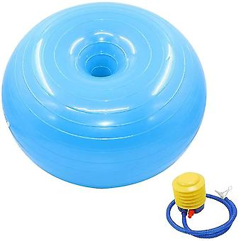 Donut Exercise Stability Ball For Yoga, Exercise Ball 55cm With Pump(Blue)