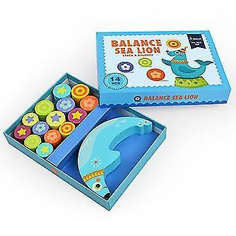 Children's Educational Toy Stacks Of High Wooden Balance Blocks