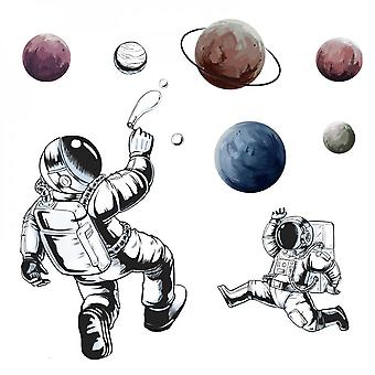 Astronaut Space Planet Wall Sticker Decal (size:94cm X 93cm)