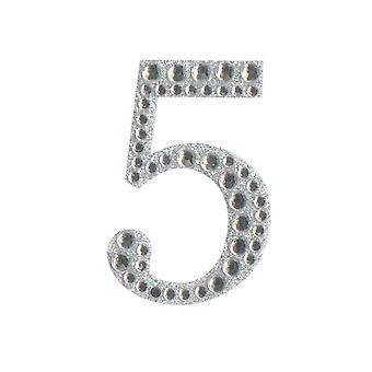 5cm Klar Selvklebende Diamante Tall - 5 | Diamante Edelstener Utsmykninger
