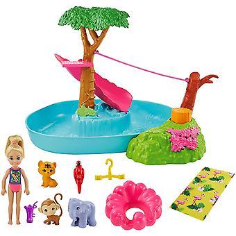 Barbie Chelsea Stratené narodeniny bazén playset s bábikou a príslušenstvom