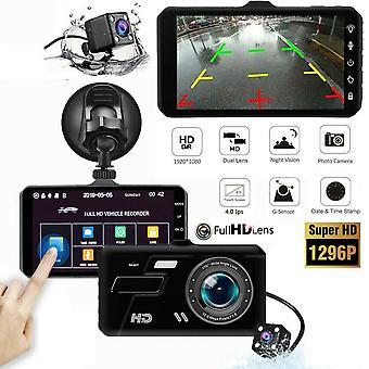 """4"""" במצלמת רכב מקליט כפול קדמי ואחורי HD 1080P מקף מצלמת ראיית לילה בבריטניה"""
