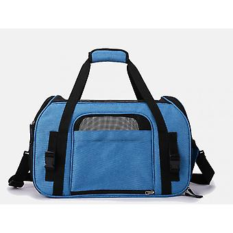 Shopping Center Cat Handbag, Foldable Messenger Bag, Washable And Detachable For Cats, Kittens, Dogs And Aircraft (43 * 23 * 29 Cm) Gray