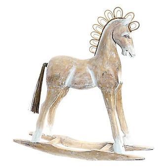Sierfiguur DKD Home Decor Paard Bamboe Rotan Vezels Paard (60 x 17 x 65 cm)