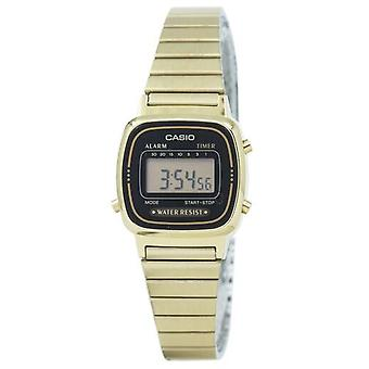 Casio Digital Stainless Steel Alarm Timer La670wga-1df La670wga-1 Montre femme