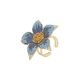 Forget Me Not Flower Ring Gold