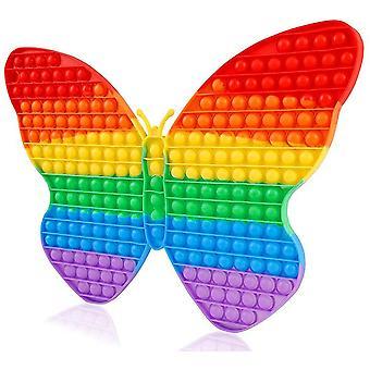 43cm XXL Fidget Toy Big Pop It Toy Stress Relax Rainbow Butterfly