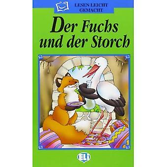 Lesen Leicht Gemacht - Die Grune Reihe: Der Fuchs Und Der Storch - Bok & CD