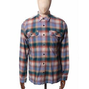 Patagonia Organic Cotton Midweight Fjord Flannel Shirt - Northern Lights Plaid: Dk Bor