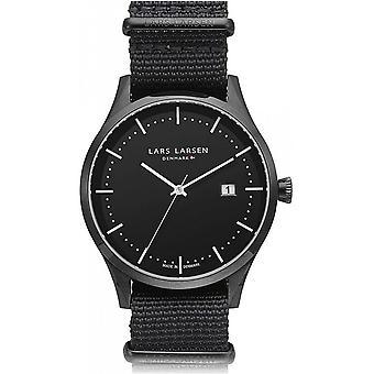 LLarsen (Lars Larsen Black Nylon) 119CBBLN Men's Watch