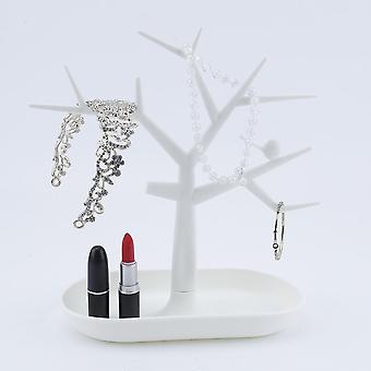 שרשרת תכשיטים טבעת עגיל עץ לעמוד תצוגה Organizer מחזיק הצג ארון תקשורת