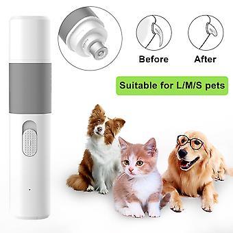 Lime à ongles électrique pour chien, coupe-ongles électrique pour chien, lime à ongles professionnelle avec rechargeable par USB, vitesse librement réglable, ultra silencieux, tapis de haute qualité