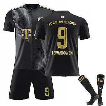 Lewandowski #9 Trikot 2021-2022 Neue Saison Fc Bayern München Fußball T-Shirts Trikot Set für Kinder Jugend