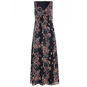 Per Una Sleeveless Floral Striped Maxi Dress