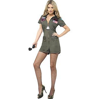 Top Gun Flieger Damen Kostüm