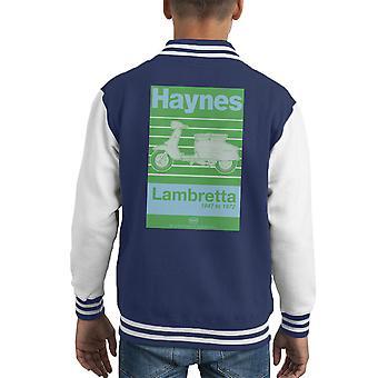 Varsity Jacket Haynes propriétaires atelier manuel Lambretta 47 à 72 enfants