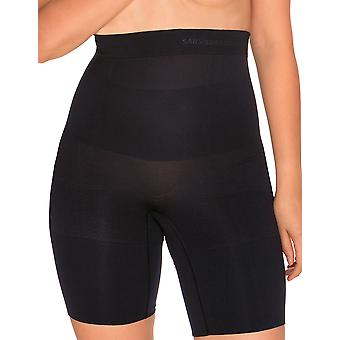 Sans Complexe 699153 Frauen Slimmers schwarz Firma/Medium-abnehmen Gestaltung hohe Taille langes Bein kurz