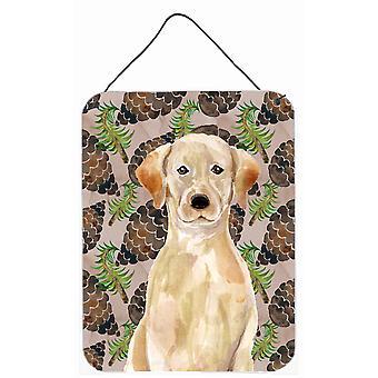 Gelber Labrador Kiefer Kegel Wand oder Tür hängen Drucke