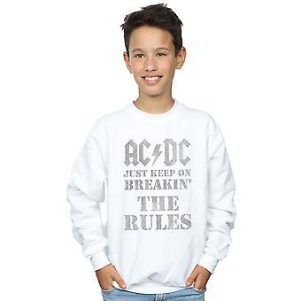 AC/DC pojat vain pitää Breaking säännöt College pusero