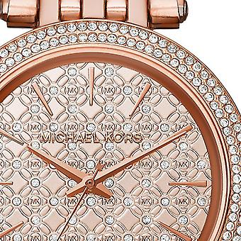 Michael Kors Darci Rose Gold Crystal Bezel Ladies Womens Watch MK3399