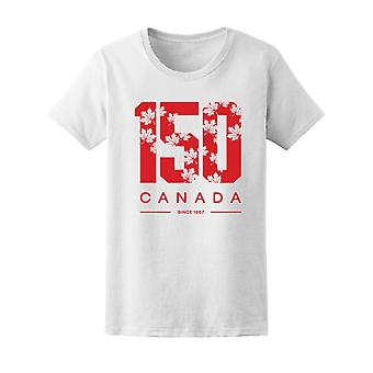 150 årsjubileum Kanada Tee kvinnors-bild av Shutterstock