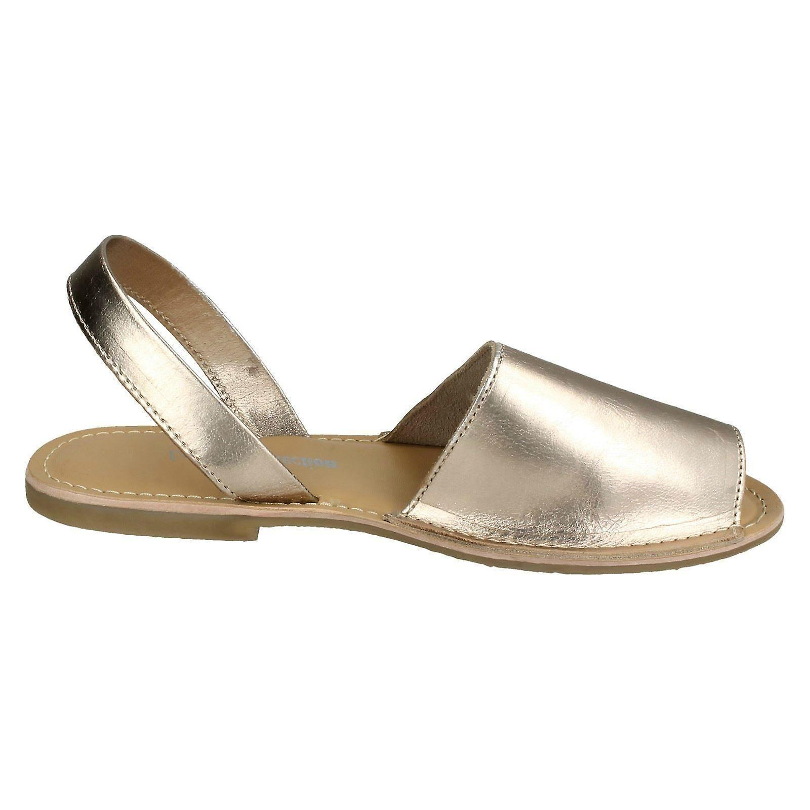 Ladies Leather Collection Slingback Mule Sandals